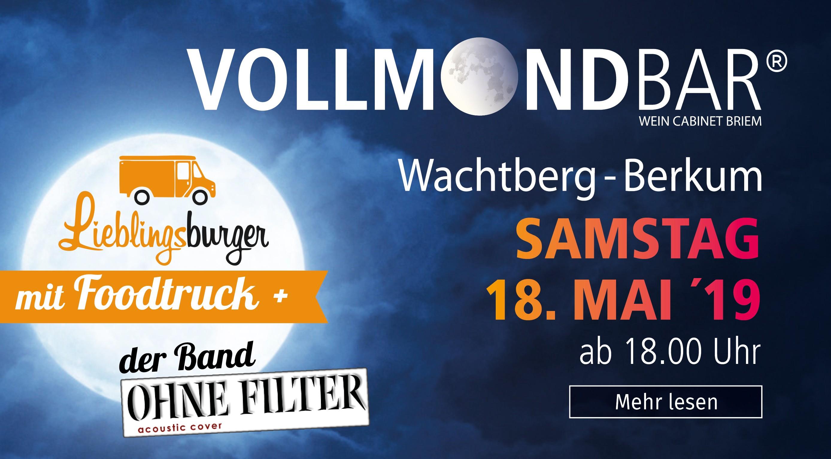 Vollmondbar, Wein Cabinet Briem, Berkum, Wein-Event, Weinfest,