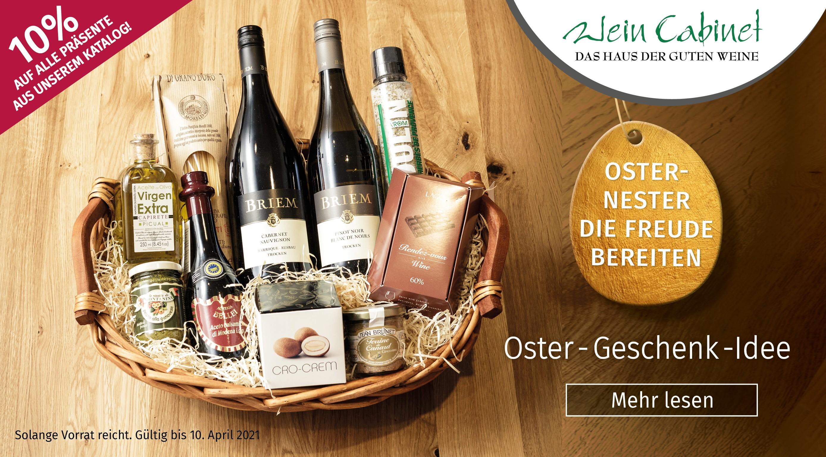 Osterrabatt auf Briemweine, Ostergeschenk-Ideen