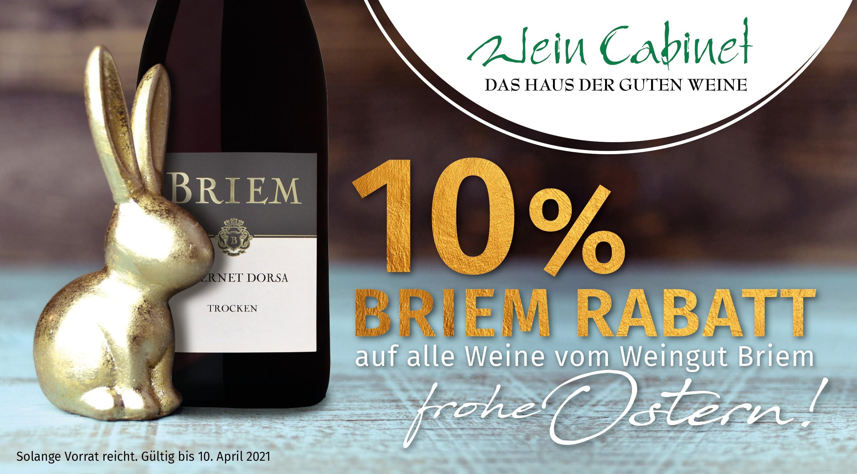 10% Osterrabatt auf alle Briem Weine ,Osterrabatt auf Briemweine, Ostergeschenk-Ideen