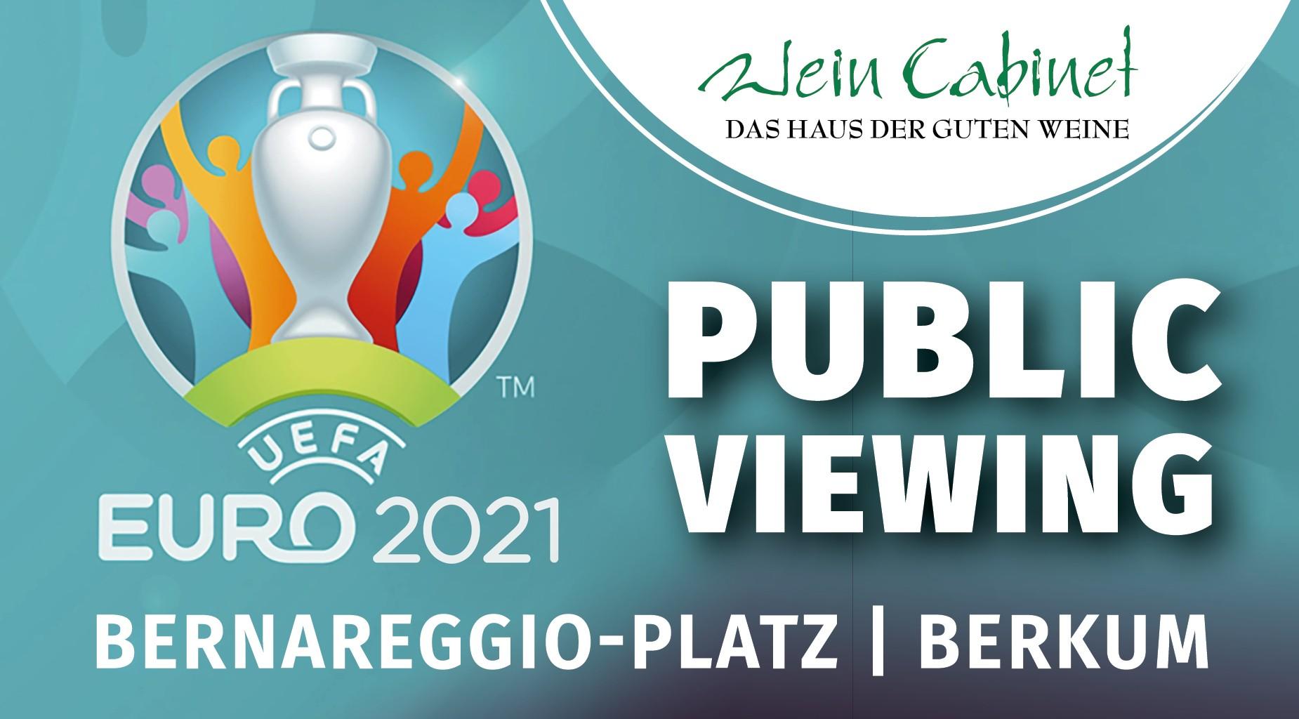 Public Viewing, WM 2021, Weincabinet Briem Berkum, Weinstand Berkum
