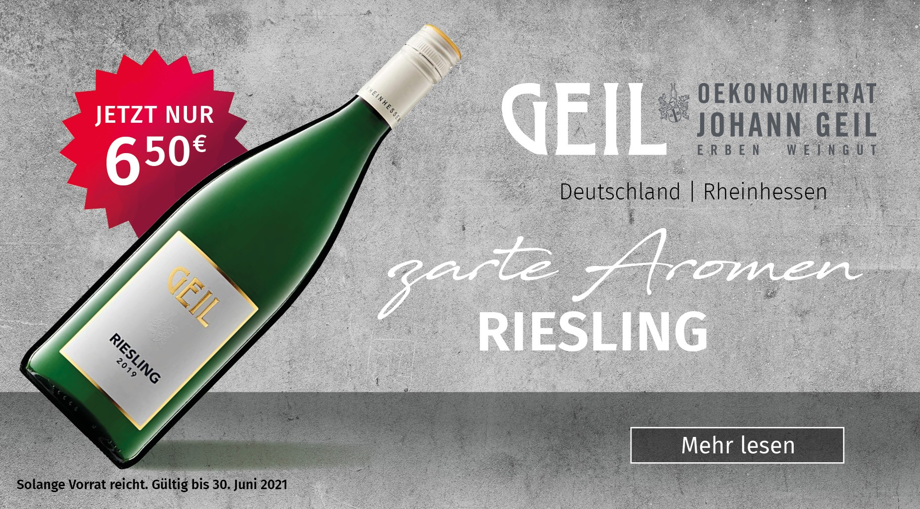Riesling Weingut Geil, Wein Cabinet Briem Wachtberg-Berkum